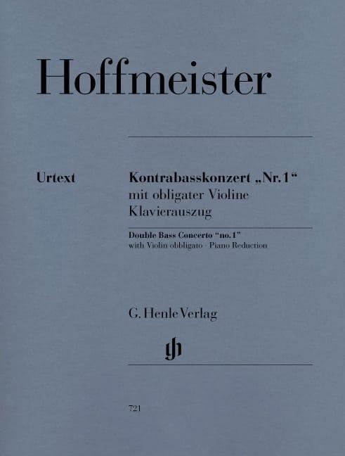 Kontrabass-Konzert n° 1 - HOFFMEISTER - Partition - laflutedepan.com