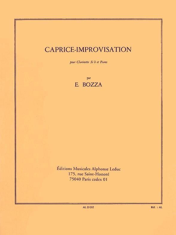 Eugène Bozza - Improvisation-Caprice - Partition - di-arezzo.com