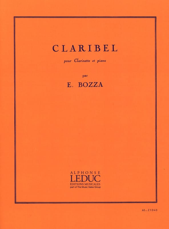 Eugène Bozza - Claribel - Partition - di-arezzo.co.uk
