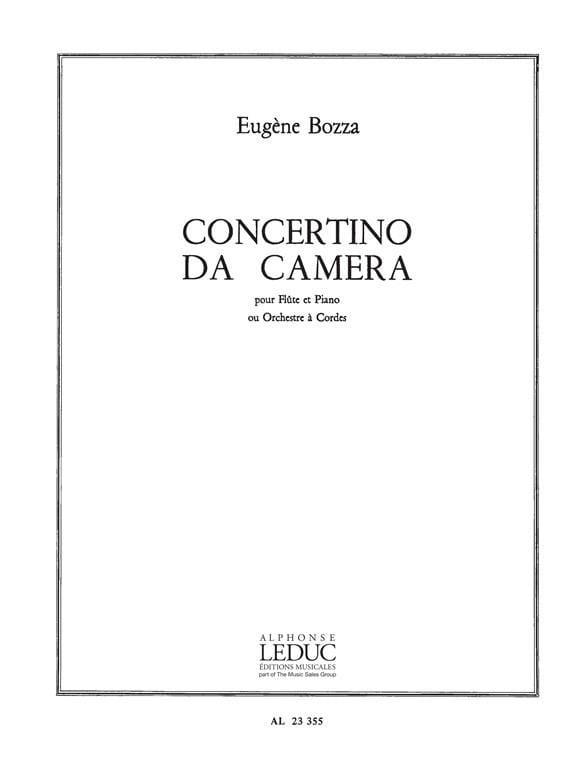 Eugène Bozza - Concertino da Camera - Piano Flauta - Partition - di-arezzo.es