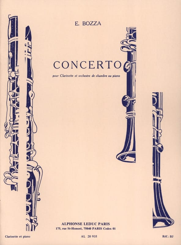Eugène Bozza - Concerto - Clarinet - Partition - di-arezzo.co.uk