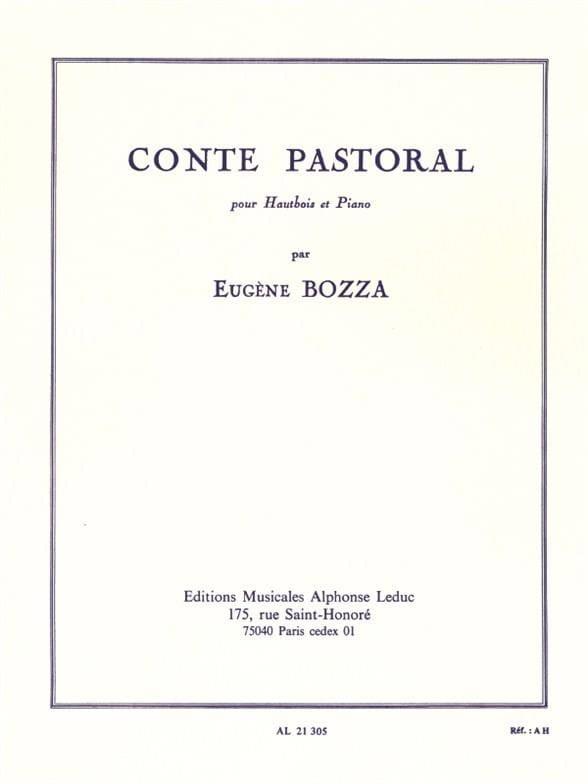 Eugène Bozza - Pastoral tale - Partition - di-arezzo.co.uk