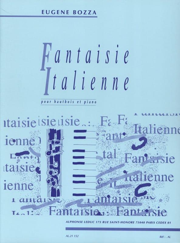 Eugène Bozza - Italian Fantasy - Oboe - Partition - di-arezzo.co.uk