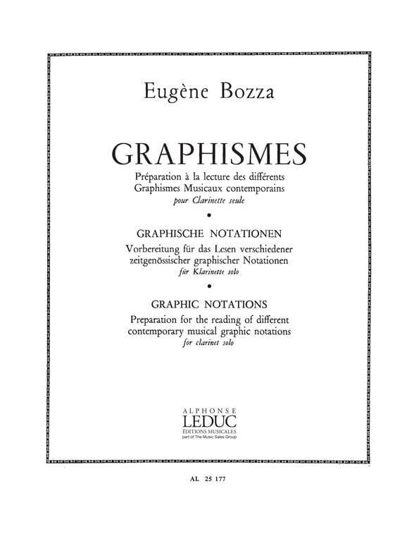 Graphismes - Clarinette - Eugène Bozza - Partition - laflutedepan.com