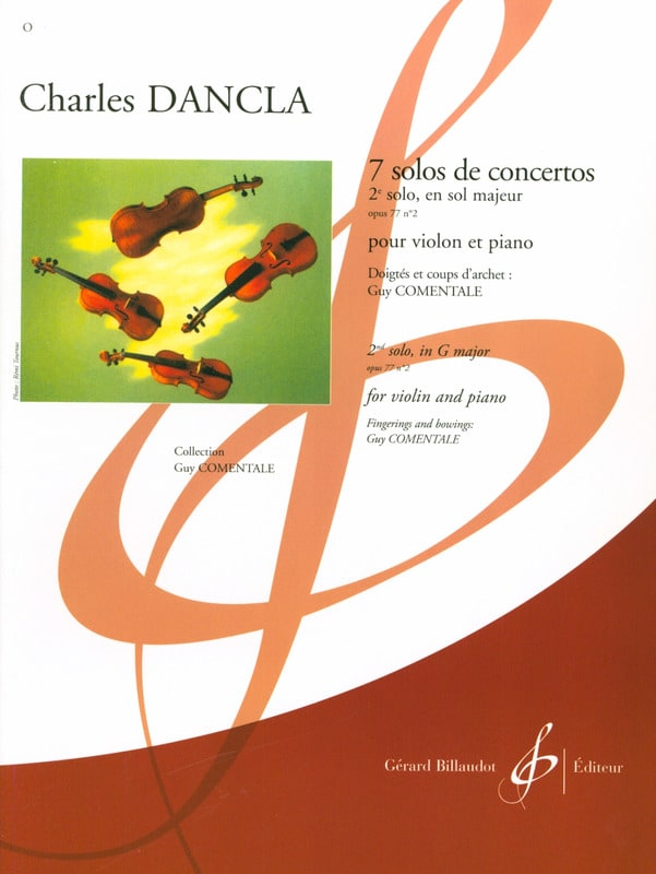 DANCLA - Solo Concerto No. 2 op. 77 in G major - Partition - di-arezzo.com