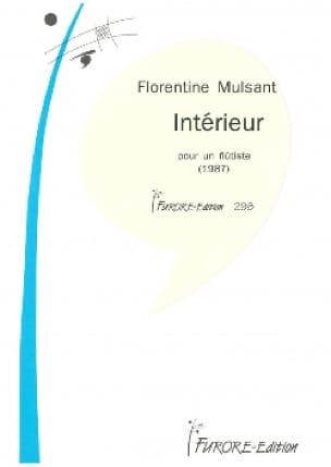 Intérieur - Florentine Mulsant - Partition - laflutedepan.com