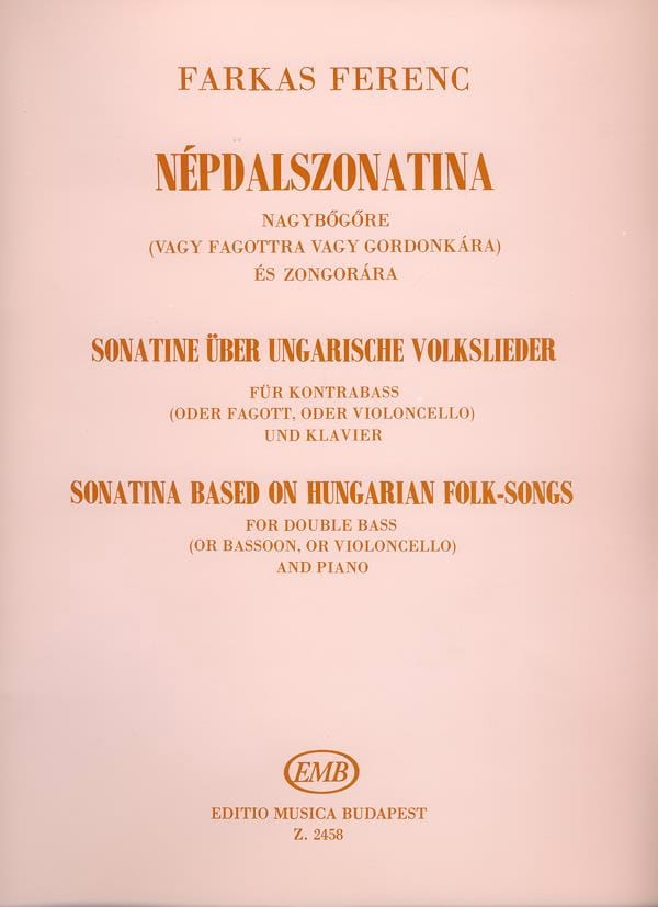 Sonatine based on hungarian folk-songs - laflutedepan.com