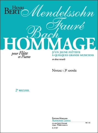 Henri Bert - Tribute of a young flutist ... - Volume 2 - Partition - di-arezzo.co.uk