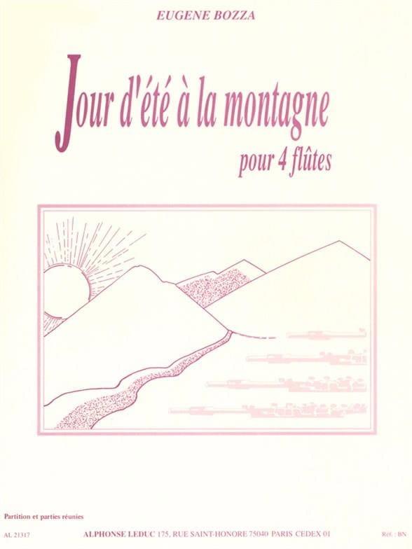 Jour d'été à la montagne - 4 Flûtes - Eugène Bozza - laflutedepan.com