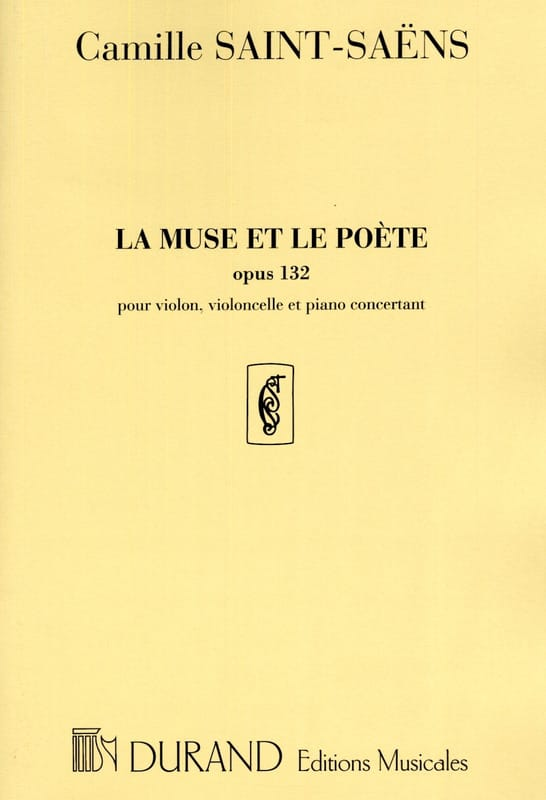 Camille Saint-Saëns - The Muse and the Poet - Opus 132 - Partition - di-arezzo.co.uk