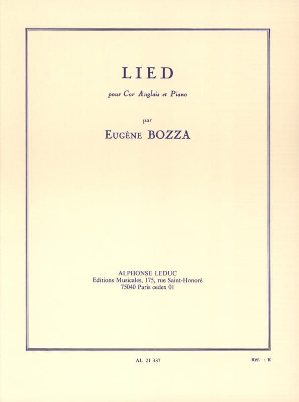 Eugène Bozza - Lied - english horn and piano - Partition - di-arezzo.co.uk