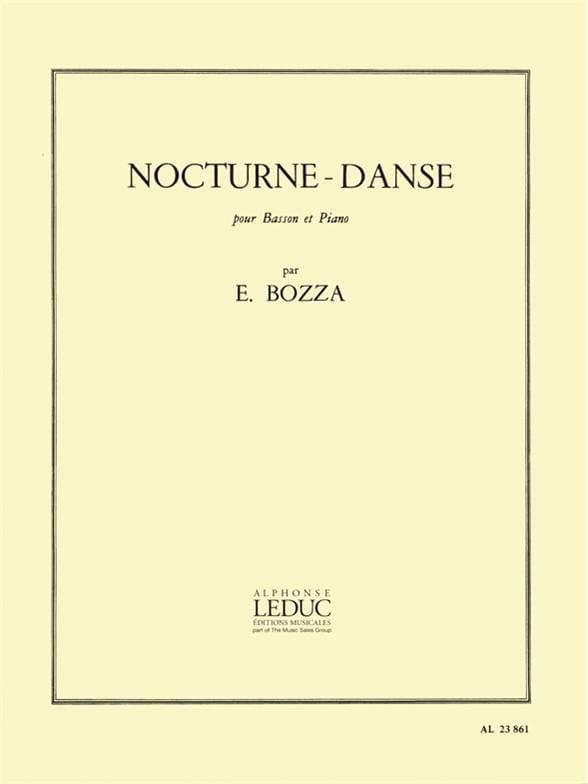 Eugène Bozza - Night-Dance - Partition - di-arezzo.com