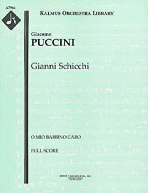Giacomo Puccini - O mio babbino caro - Puntuación - Partition - di-arezzo.es
