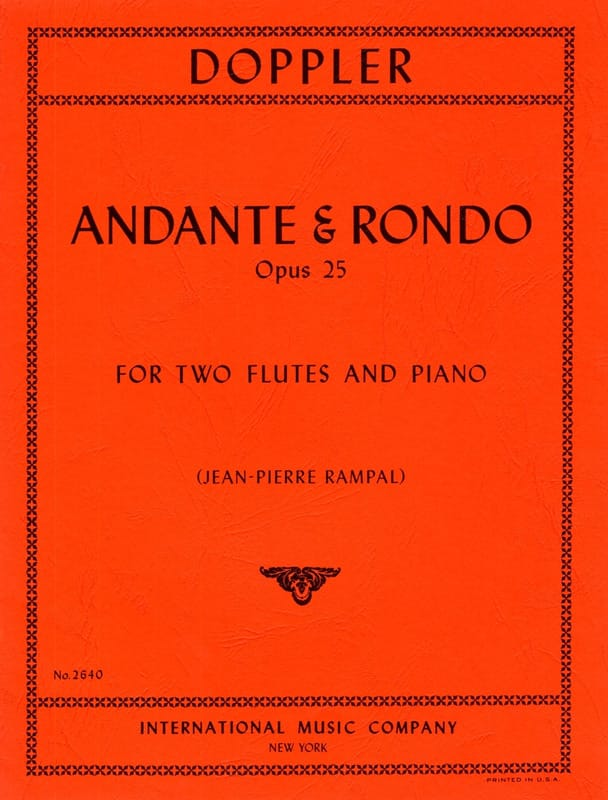 Franz Doppler - Andante and Rondo op. 25 - Partition - di-arezzo.com