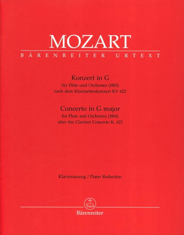 Konzert In G-Dur für Flöte 1801 Nach Kv 622 - Flöte Klavier - laflutedepan.com