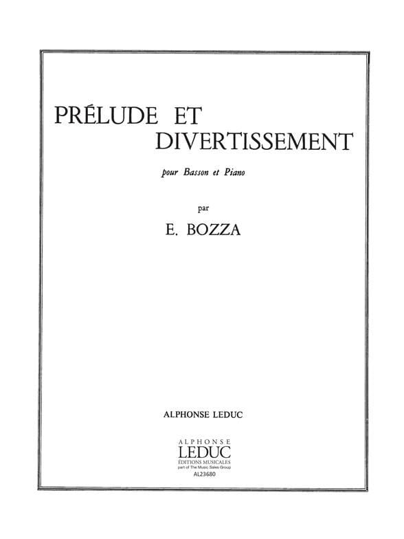 Eugène Bozza - Prelude and Entertainment - Partition - di-arezzo.com