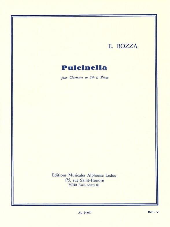 Eugène Bozza - Pulcinella - Clarinet - Partition - di-arezzo.com