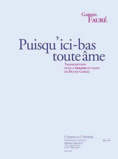 Gabriel Fauré - Desde aquí todo alma ... - Partition - di-arezzo.es