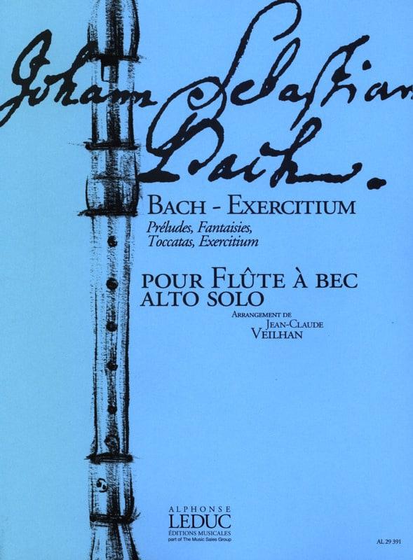 Bach - Exercitium - Flûte à bec alto - BACH - laflutedepan.com