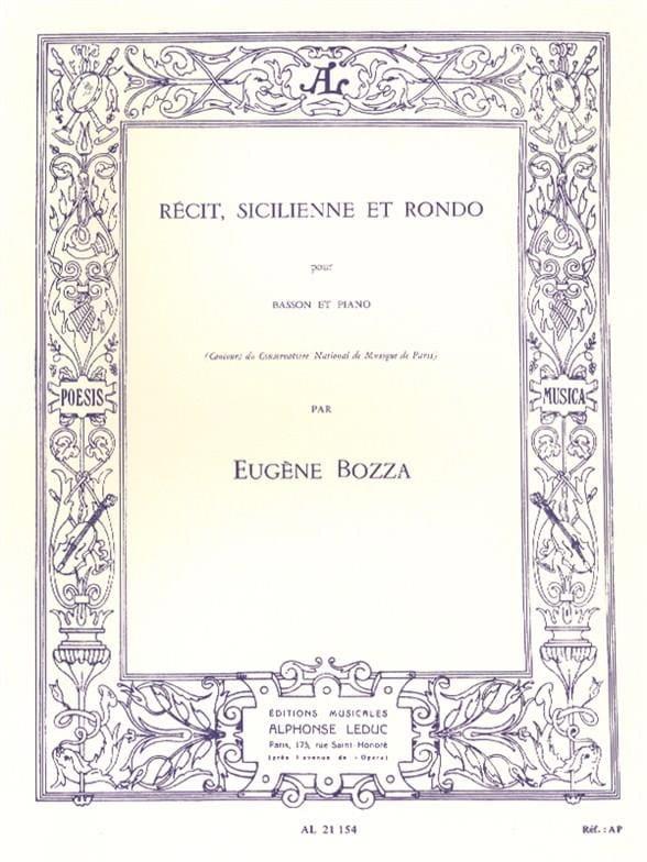 Eugène Bozza - Story, Sicilian and Rondo - Partition - di-arezzo.com