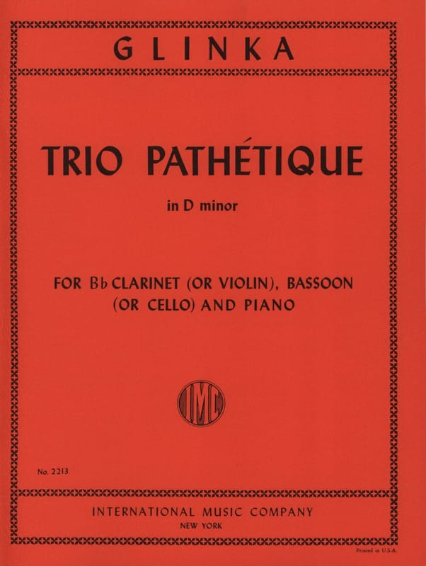 Trio Pathétique in D minor -Clarinet bassoon piano - laflutedepan.com
