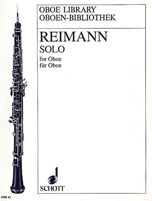 Solo for Oboe - Aribert Reimann - Partition - laflutedepan.com