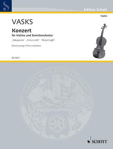 Concerto Distant Light - Violon - Peteris Vasks - laflutedepan.com