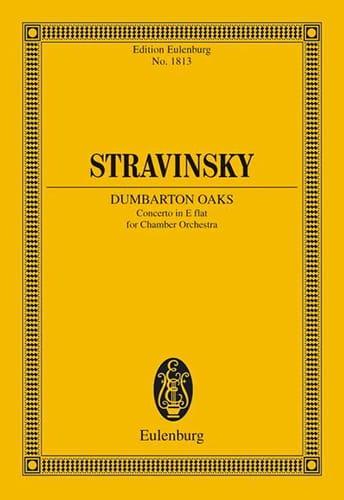 Igor Stravinsky - Dumbarton Oaks Concerto Es-Dur - Partitur - Partition - di-arezzo.com