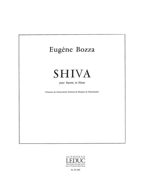 Eugène Bozza - Shiva - Partition - di-arezzo.com