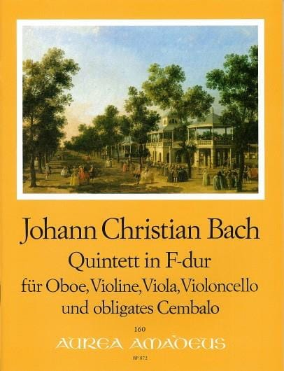 Johann Christian Bach - Quintet in F Major - Partition - di-arezzo.co.uk
