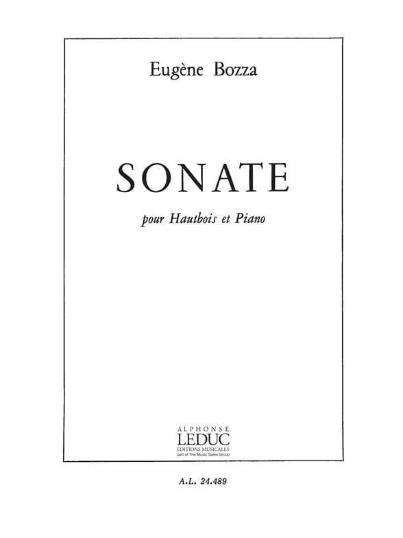 Eugène Bozza - Sonate - Oboe and piano - Partition - di-arezzo.co.uk
