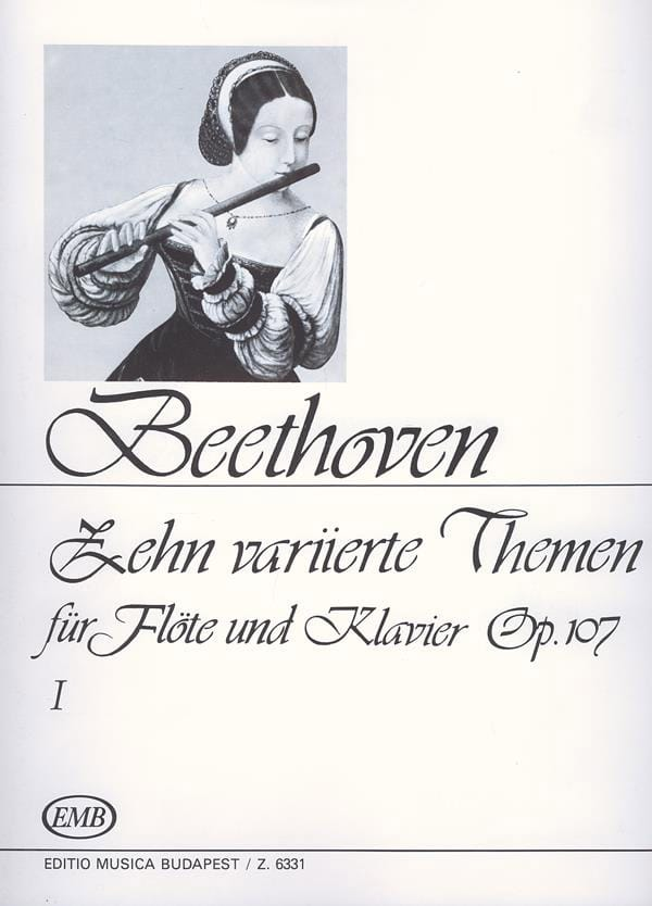 BEETHOVEN - 10 Variierte Themen, op. 107 Volume 1 - Klavier Flute - Partition - di-arezzo.co.uk