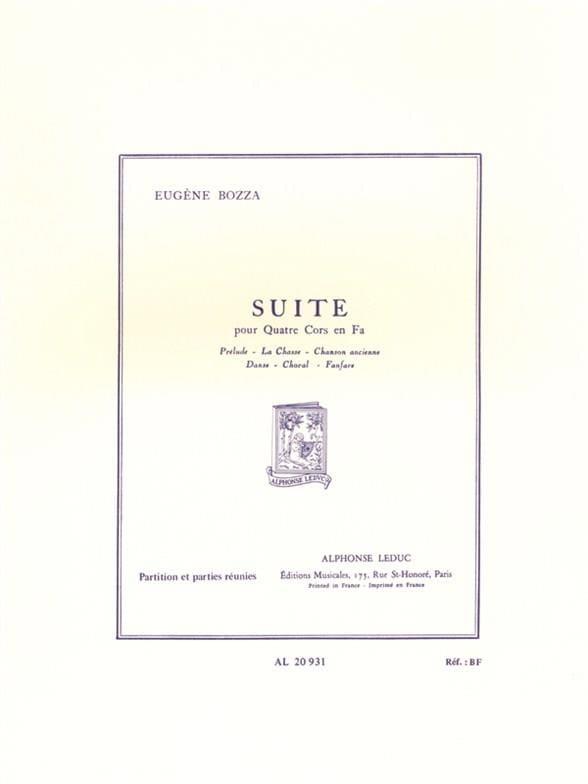 Eugène Bozza - Suite for 4 Horns - Driver - Partition - di-arezzo.co.uk