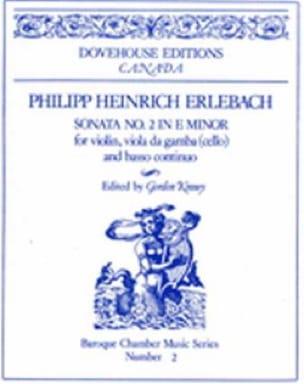 Sonate n° 2 in E minor - Philipp Heinrich Erlebach - laflutedepan.com