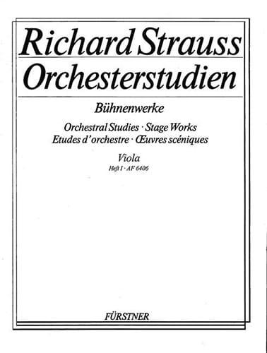 Orchesterstudien - Viola - Heft 1 - Richard Strauss - laflutedepan.com