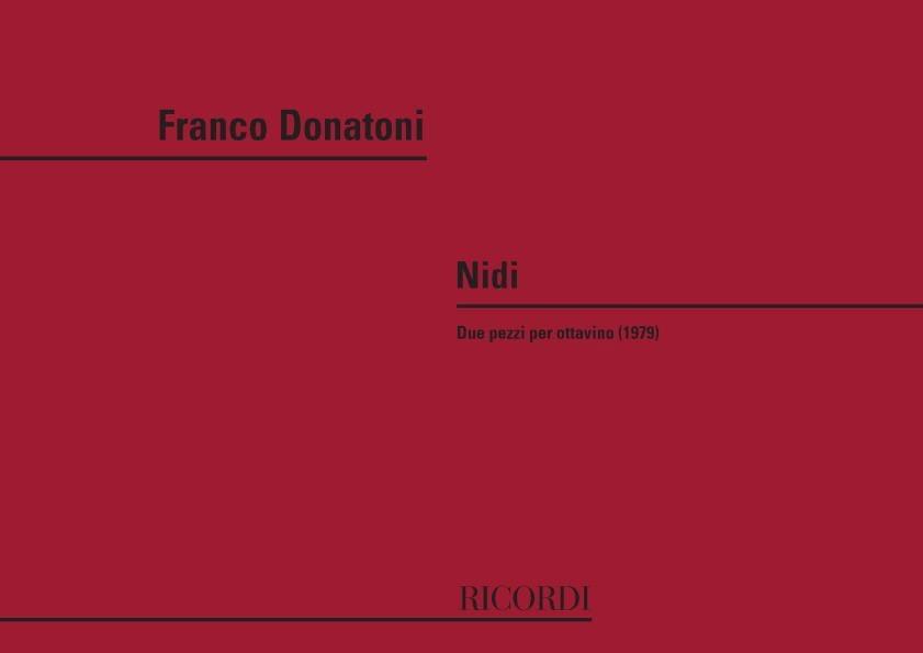 Nidi - Franco Donatoni - Partition - laflutedepan.com