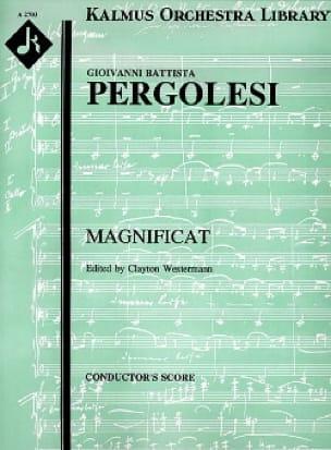 Magnificat -Partitur - PERGOLESE - Partition - laflutedepan.com