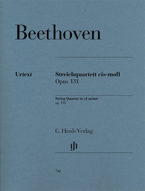 BEETHOVEN - String quartet in C sharp minor op. 131 - Partition - di-arezzo.co.uk
