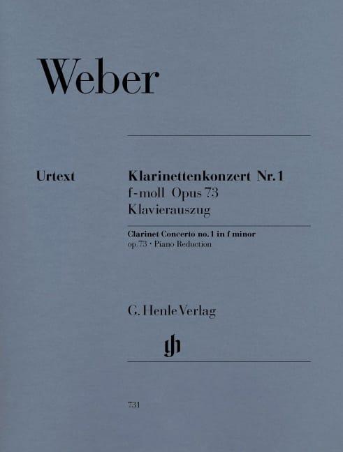Carl Maria von Weber - Clarinet Concerto No. 1 in F minor op. 73 - Partition - di-arezzo.co.uk