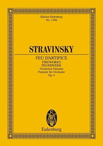Feuerwerk - Feu D' Artifice - STRAVINSKY - laflutedepan.com