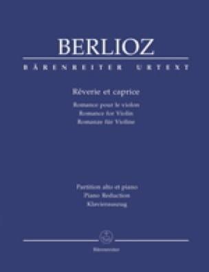 Rêverie et Caprice - BERLIOZ - Partition - Violon - laflutedepan.com