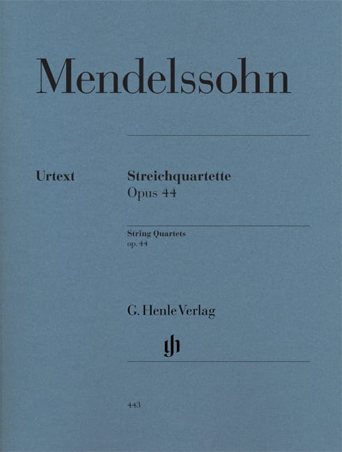 MENDELSSOHN - String quartets op. 44 - Partition - di-arezzo.co.uk