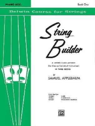 String Builder Volume 1 - Piano Accompaniment - laflutedepan.com