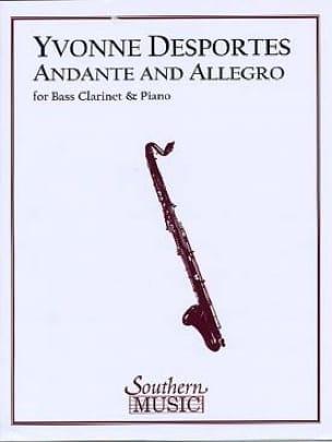 Andante et Allegro - Yvonne Desportes - Partition - laflutedepan.com