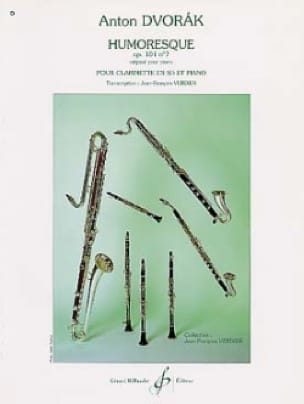 Humoresque op.101 n°7 - Clarinette - DVORAK - laflutedepan.com
