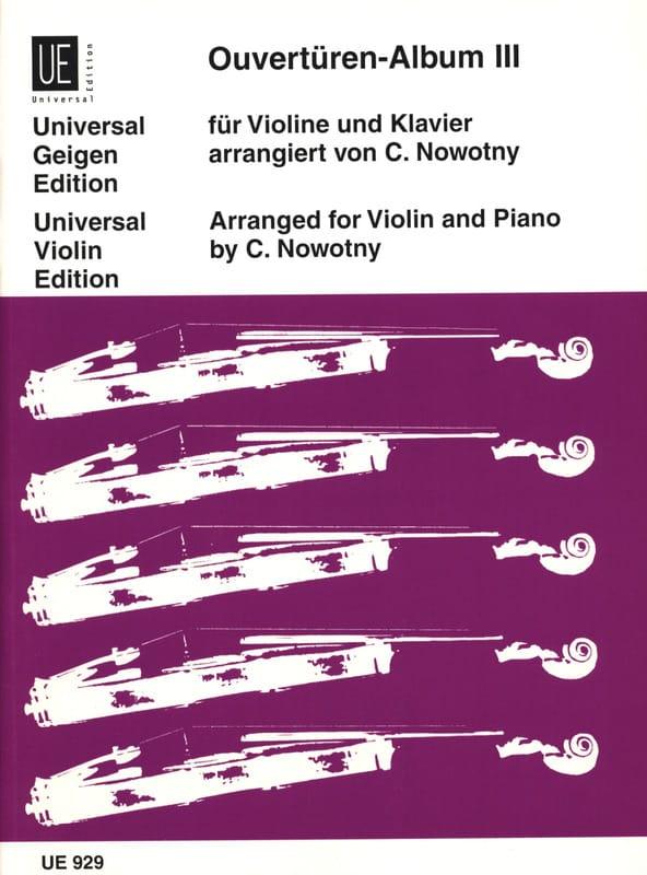 Ouvertüren-Album Bd. 3 - Carl Nowotny - Partition - laflutedepan.com