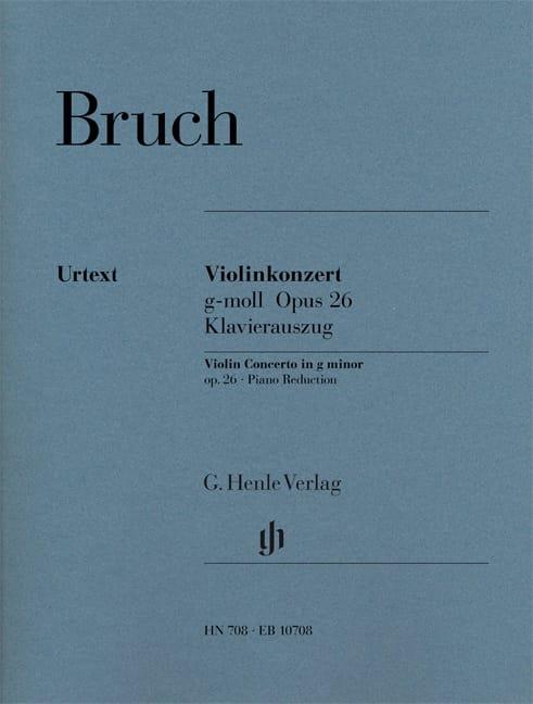 Max Bruch - Concerto pour Violon en Sol Mineur N°1 Op. 26 - Partition - di-arezzo.ch