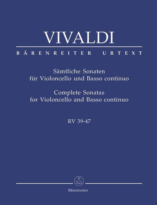 VIVALDI - Complete Sonata for Violoncello and basso continuo - RV 39-47 - Partition - di-arezzo.com
