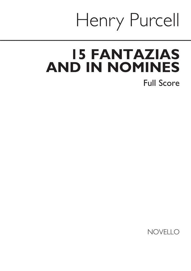Fantazias and in Nomines - PURCELL - Partition - laflutedepan.com