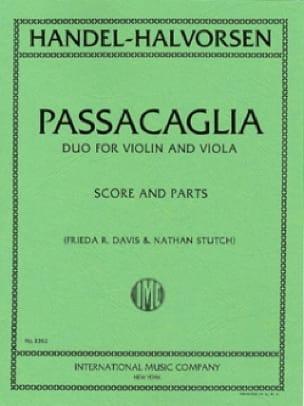 HAENDEL - Passacaglia - violin violin - Partition - di-arezzo.co.uk